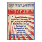 Rustic Vintage Broadside Poster Style 4th of July Card