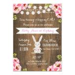 Rustic Vintage Bunny Rabbit BirthdayInvitation 13 Cm X 18 Cm Invitation Card