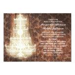 rustic vintage chandelier wedding invitations