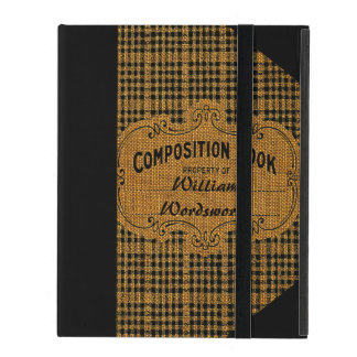 Rustic Vintage Composition Book Case For iPad
