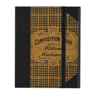 Rustic Vintage Composition Book iPad Case