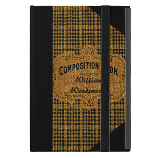 Rustic Vintage Composition Book iPad Mini Cases