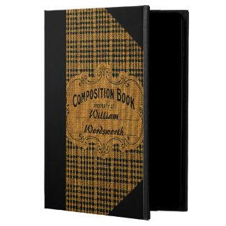 Rustic Vintage Composition Book Powis iPad Air 2 Case