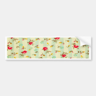 rustic vintage country floral girly chic trendy bumper sticker