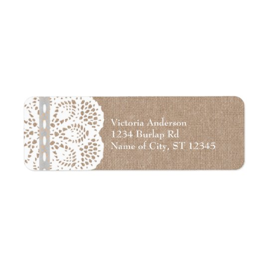 Rustic Vintage Doily Address Label