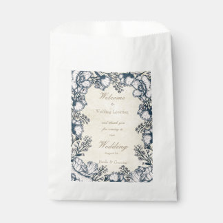 Rustic Vintage Flower Floral Wedding Favour Bags