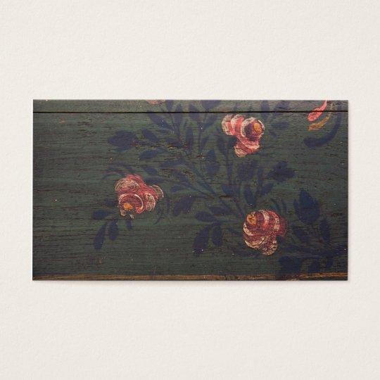 Rustic vintage flowers business card