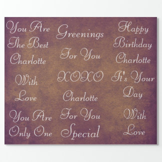 Rustic Vintage Grungy White Velvet Personalized Wrapping Paper