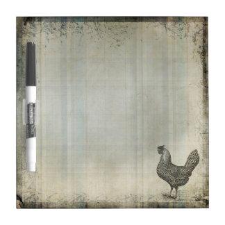Rustic Vintage Hen | Chicken | Farm Animals Dry Erase Board