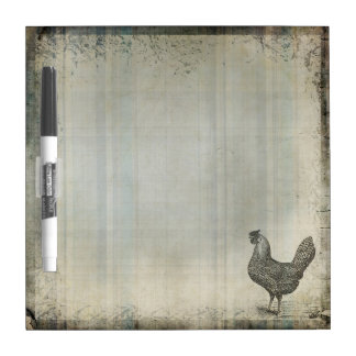 Rustic Vintage Hen | Chicken | Farm Animals Dry Erase Whiteboards