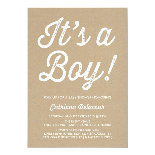 RUSTIC VINTAGE | IT'S A BOY BABY SHOWER
