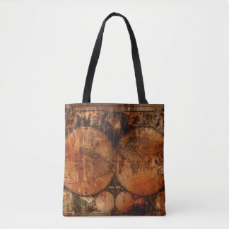 Rustic Vintage Old World Map History-lover Tote Bag