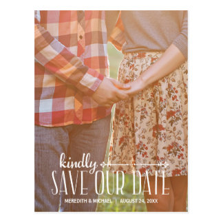 Rustic Vintage | Photo Save the Date Postcard
