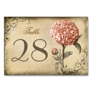 Rustic Vintage Pink Peony Wedding Card