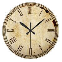 Rustic Vintage Roman Numeral Clock Face