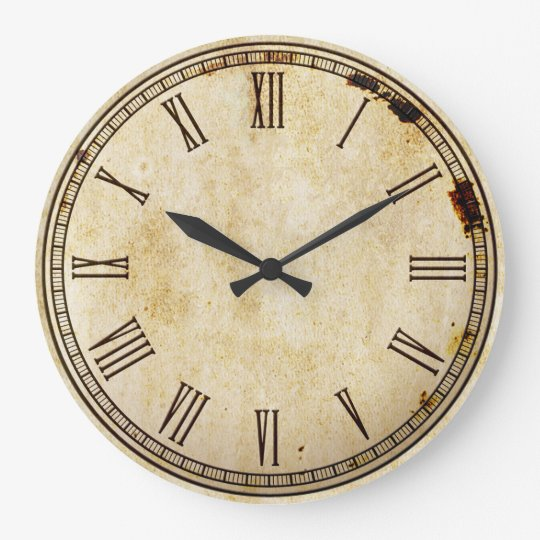 Rustic Vintage Roman Numeral Clock Face Zazzle Co Uk