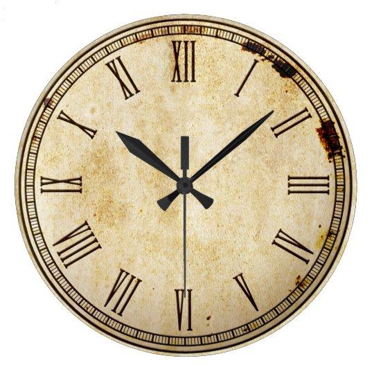 Rustic Vintage Roman Numeral Clock Face Zazzle Co Uk
