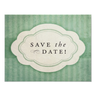 Rustic Vintage Sage Green Save the Dates Card