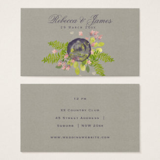 RUSTIC VIOLET YELLOW WILD FLOWERS & FERNS Wedding