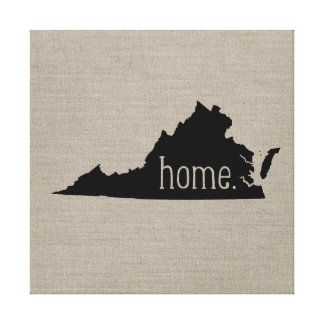 Rustic Virginia Home State Wrapped Canvas Art Stretched Canvas Prints