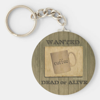 Rustic Wanted Dead or Alive Sign - Customizable Key Ring