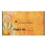 Rustic Watercolor Daisies Wedding Place Cards Pack Of Standard Business Cards