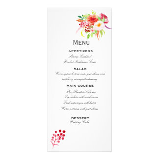 Rustic Watercolor- romantic and fresh! Customised Rack Card