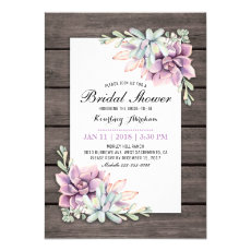 Rustic Watercolor Succulent Floral Bridal Shower