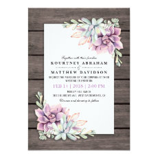 Rustic Watercolor Succulent Floral Wedding