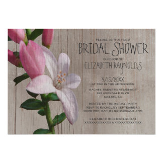 Rustic Waxflower Bridal Shower Invitations Invitation