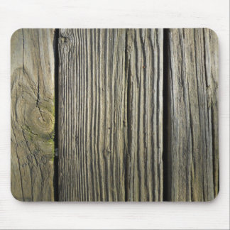 Rustic Weathered Wood Grain Deck Board Mouse Mat