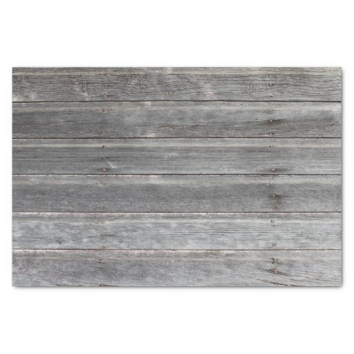 'Rustic Weathered Wood Wall Tissue Paper
