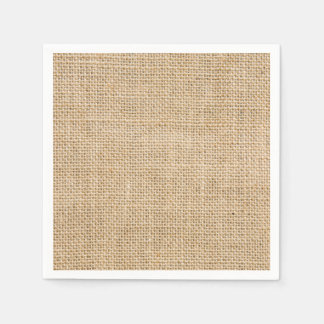 Rustic Wedding Burlap Trendy Country Wedding Disposable Napkins