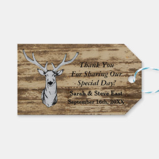 Rustic Wedding Deer Thank You Tags