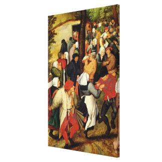 Rustic Wedding, detail of people dancing Canvas Print