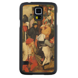 Rustic Wedding, detail of people dancing Carved Maple Galaxy S5 Case