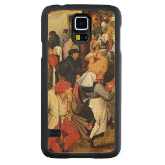 Rustic Wedding, detail of people dancing Maple Galaxy S5 Slim Case
