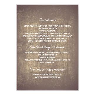 Rustic Wedding Details 11 Cm X 16 Cm Invitation Card