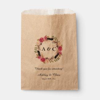 Rustic Wedding Favor Bags Boho Wedding Treat Bag