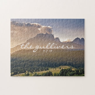 Rustic Wedding Guest Signature Book Alternative Jigsaw Puzzle
