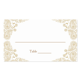 Rustic Wedding I Paisley Table Assignment Card Pack Of Standard Business Cards