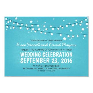 Rustic Wedding Invitation Starry Night Lights