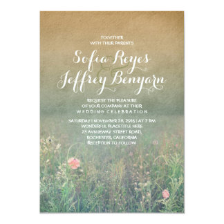 Rustic Wedding Invitation - The Summer Meadow