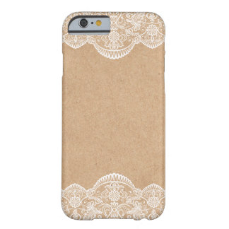 Rustic Wedding Kraft and Lace Bride iPhone 6 case