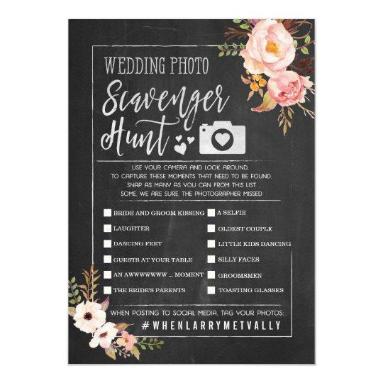 Rustic Wedding Photo Scavenger Hunt I Spy Game Invitation | Zazzle.co.uk