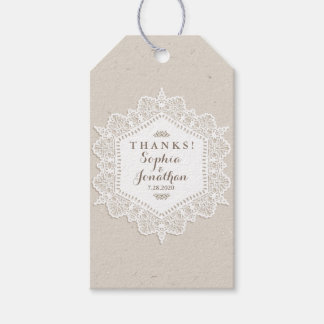 Rustic Wedding Romantic Vintage Lace Doily Gift Tags