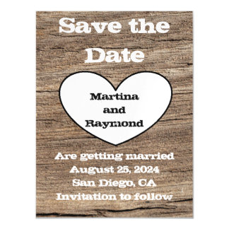 Rustic Wedding Save the Date Invitation Magnet Magnetic Invitations