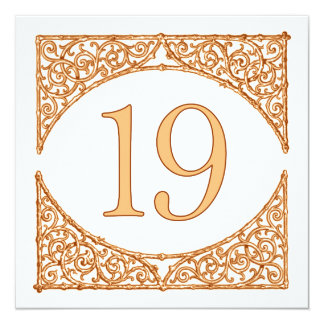 Rustic Wedding Wood Screen Table Number 19 13 Cm X 13 Cm Square Invitation Card