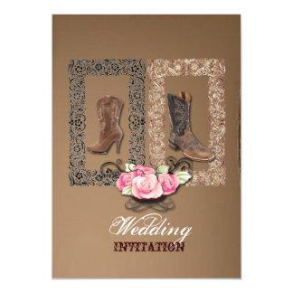Rustic western country cowboy wedding card