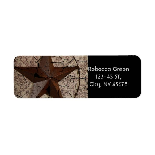Rustic Western Country Primitive Texas Star